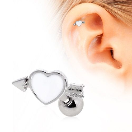 Arrow Through Heart Cartilage Earring